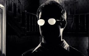 Picture black, glasses, Sin City, shirt, Kevin, Elijah Wood, Sin City