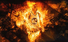 Picture Fire, Sport, Basketball, NBA, Golden State, Stephen Curry, Warriors, Golden State, Stephen Curry, Warriors