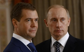 Picture Look, policy, Russia, President, Vladimir Putin, Dmitry Medvedev, Prime Minister