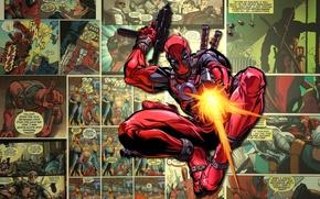Picture weapons, mask, shots, marvel, comic, comics, deadpool, super hero
