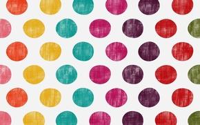 Wallpaper circles, texture, polka dot, colorful