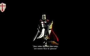 Picture red, sword, black, cross, shield, knight, crusader, latin, knight Templar, cattolic