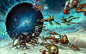 Picture zipper, map, hole, the portal, art, creatures, WoW, World of Warcraft, warlock, Hearthstone, DaveAllsop, The …
