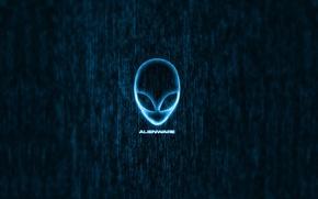 Picture logo, alien, blue, brand, head, alienware
