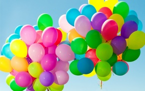 Wallpaper balls, balloons, colorful, happy, sky, balloons