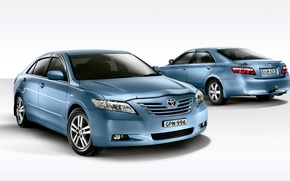 Wallpaper Camry, white background, Toyota, Camry, Toyota
