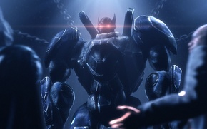Picture batman, robot, hero, dc comics, fan art