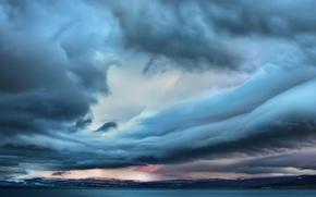 Wallpaper cloud, sea, landscape