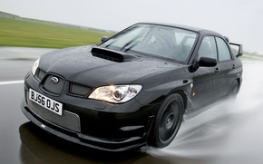 Wallpaper Impreza, Subaru, 2006, black, WRX
