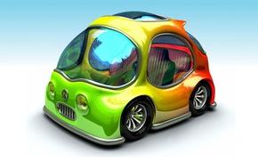 Wallpaper machine, Concept_Car, icon hippie, a riot of colors, Chrysler, BMW, hippie