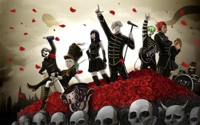 Picture art, concert, characters, death parade