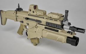 Wallpaper gun, weapon, rifle, assault rifle, FN Scar, ordnance, FN Herstal Belgium, cal 7.62, grenade launcher, ...