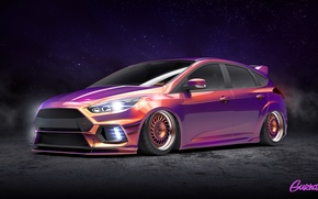 Picture Ford, Purple, Focus, Modern, by Gurnade