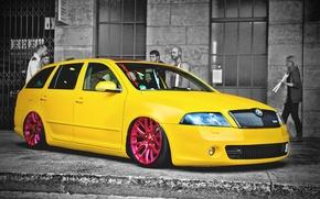 Picture car, cars, skoda, yello