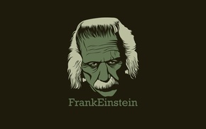 Picture green, minimal, Einstein, happy christmas