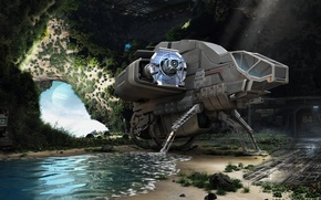 Picture surface, nature, planet, landing, spaceship