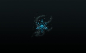 Wallpaper holiday, new year, black background, new year, snowflake, holiday, snowflake