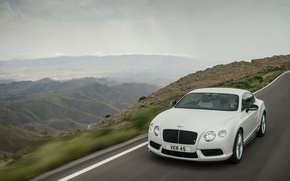 Picture road, landscape, mountains, coupe, bentley