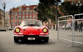 Picture red, ferrari, Ferrari, red, Dino, dino, 246 gt