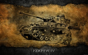 Picture Germany, art, tank, A IV, tanks, WoT, World of Tanks