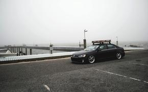 Picture beach, the sky, fog, shore, Volkswagen, pierce, Jetta, MK6