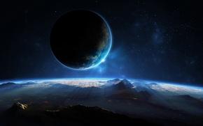 Picture space, landscape, view, planet, sci fi