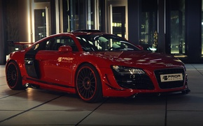 Picture car, machine, Audi, Audi, red, tuning, Prior-Design, GT650, prior-design