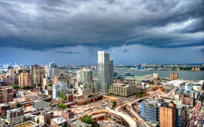 Picture clouds, building, New York, panorama, Manhattan, Manhattan, New York City, Hudson River, Hell's kitchen, the …