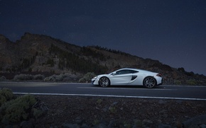 Picture auto, white, McLaren, supercar, side view, McLaren, 570GT