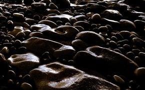 Wallpaper pebbles, stones, dark