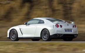 Picture autumn, mountains, Japan, speed, R35, Nissan GTR, egoist