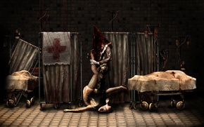 Picture background, tile, tile, monsters, hospital, nurse, Silent Hill, Pyramid Head, nurse, Pyramid head, Silent Hill, …