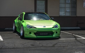 Picture green, turbo, subaru, toyota, tuning, front, face, low, brz, stance, gt86, scion, fr-s
