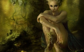 Wallpaper girl, elf, nature
