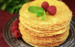 Picture raspberry, background, widescreen, Wallpaper, food, berry, wallpaper, pancakes, widescreen, background, full screen, HD wallpapers, pancakes, ...