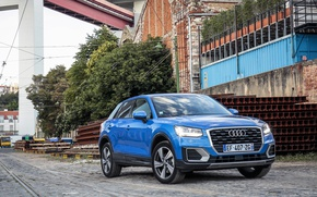 Picture blue, the city, Audi, Audi, Worldwide, Q2 TFSI