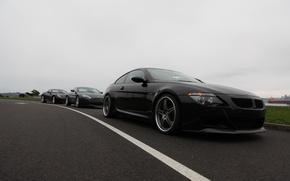 Picture Aston Martin, Black, BMW, Ferrari, Overcast