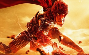 Picture cinema, fire, flame, monkey, movie, animal, hair, hero, asian, film, armour, warrior, chinese, oriental, asiatic, …