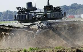 Picture field, tank, trunk, combat, armor, T-72 m