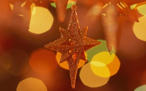 Picture holiday, new year, holiday, orange background, star, star, new year