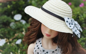 Picture hat, doll, bow, doll, BJD