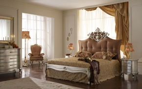 Picture bed, interior, chair, bedroom