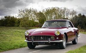 Picture auto, summer, retro, rain, Ferrari, rain, Coupe, 250 GT, Pininfarina