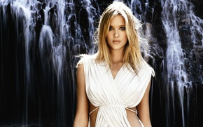 Picture look, girl, model, hair, waterfall, blonde, Gianne Albertoni