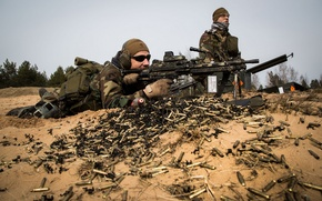 Picture weapons, soldiers, Latvian Special Forces