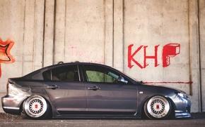 Picture wall, graffiti, wall, graffiti, mazda, Mazda