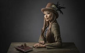 Picture hat, makeup, Studio, steampunk, Yolanda