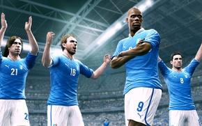Picture italy, pirlo, balotelli, de rossi, pro evolution soccer 2014, football simulator, pes