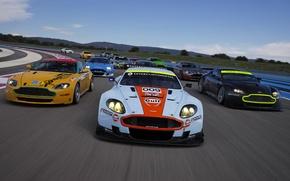 Picture race, Aston martin, track