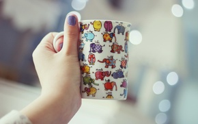 Picture background, hand, Cup